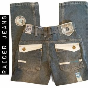 NWT Raider Jeans with Faux Leather Pockets